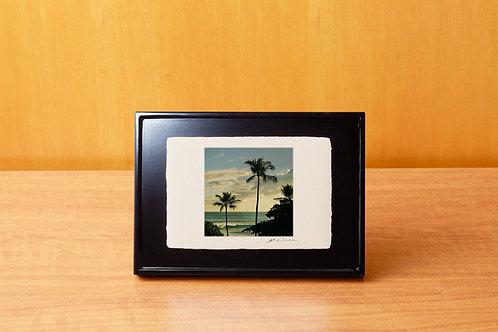 手漉き和紙,写真,風景,ハワイ,海,ビーチ,ヤシの木,南国,インテリアフォト,アートフレーム,おしゃれ,モダン,卓上額,置き型,装飾オリジナルプリント,フォトフレーム,プレゼント,ギフト
