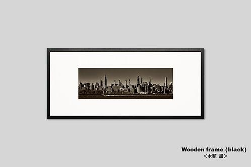 ニューヨーク,エンパイアステートビル,インテリア,写真,横長,風景,マンハッタン,摩天楼,ビル群,都会,インテリアフォト,アート,額入り,額装,オリジナルプリント,アートフレーム,おしゃれ,モダン,プレゼント,壁掛け,ウォールアート,新築祝い