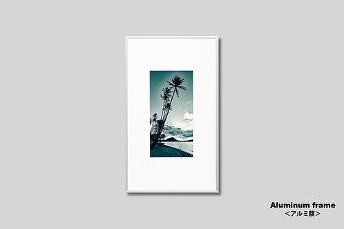 ハワイ,海,ヤシの木,トロピカル,ビーチ,自然,インテリア,写真,風景,インテリアフォト,アート,額入り,額装,オリジナルプリント,アートフレーム,フォトフレーム,おしゃれ,モダン,壁掛け,壁飾り,装飾,プレゼント,新築祝い