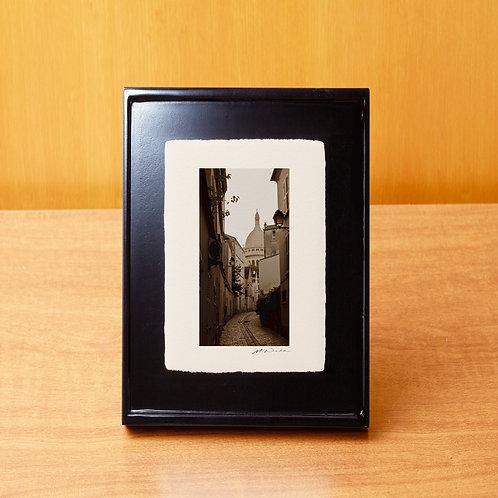 手漉き和紙,写真,風景,フランス,パリ,サクレ・クール寺院,街並み,インテリアフォト,アートフレーム,おしゃれ,モダン,卓上額,置き型,装飾オリジナルプリント,フォトフレーム,プレゼント,ギフト