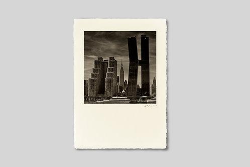 写真,ニューヨーク,インテリア,手漉き和紙,マンハッタン,都会,風景,ビル,エンパイアステートビル,ポスター,インテリアフォト,大きいサイズ,額装,正方形,和室,オリジナルプリント,アート,フレーム,おしゃれ,モダン,壁掛け,壁飾り,プレゼント