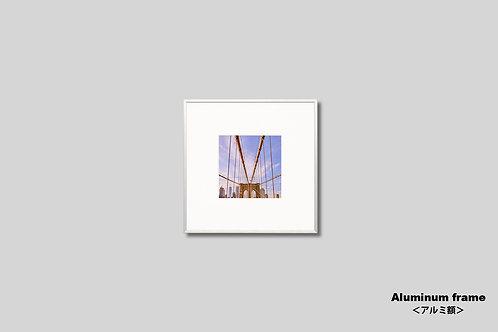 ニューヨーク,ブルックリンブリッジ,橋,インテリア,写真,風景,正方形,マンハッタン,インテリアフォト,アート,額入り,額装,オリジナルプリント,アートフレーム,フォトフレーム,おしゃれ,モダン,プレゼント,壁掛け,壁飾り,ウォールアート,新築祝い