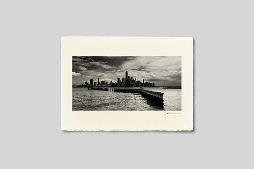 写真,ニューヨーク,マンハッタン,ビル,インテリア,手漉き和紙,風景,都会,ウエストリバー,ポスター,インテリアフォト,大きいサイズ,額装,モノクロ,和室,オリジナルプリント,アート,おしゃれ,モダン,壁掛け,プレゼント