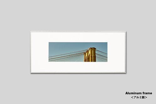 ニューヨーク,橋,写真,インテリア,風景,ブルックリンブリッジ,インテリアフォト,アート,額入り,額装,横長,オリジナルプリント,アートフレーム,フォトフレーム,おしゃれ,モダン,プレゼント,壁掛け,壁飾り,装飾,ウォールアート,新築祝い