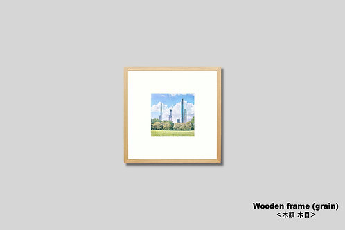 ニューヨーク,セントラルパーク,インテリア,写真,風景,マンハッタン,ビル群,インテリアフォト,正方形,アート,額入り,額装,オリジナルプリント,アートフレーム,フォトフレーム,おしゃれ,モダン,プレゼント,壁掛け,壁飾り,新築祝い