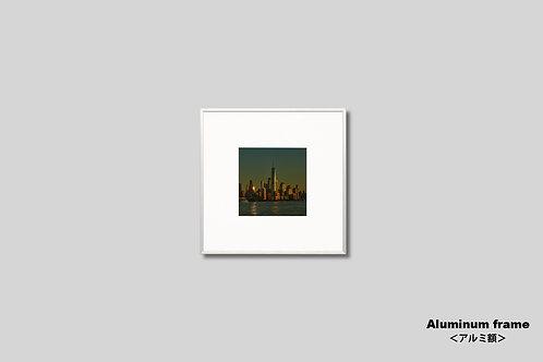 ニューヨーク,ワールドトレードセンター,インテリア,写真,夕景,マンハッタン,摩天楼,ビル群,インテリアフォト,アート,正方額入り,都会,額装,オリジナルプリント,アートフレーム,おしゃれ,モダン,プレゼント,壁掛け,壁飾り,ウォールアート,新築祝い