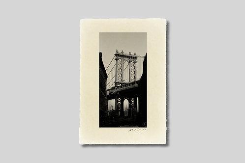 手漉き和紙,写真,インテリア,ニューヨーク,ブルックリン,マンハッタンブリッジ,橋,ダンボ,おしゃれ,インテリアフォト,風景,アート,モダン,プレゼント,ギフト,ハガキサイズ,部屋飾り