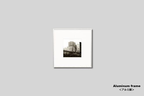 ニューヨーク,クィーンボロブリッジ,橋,インテリア,写真,正方形,風景,マンハッタン,摩天楼,ビル群,インテリアフォト,アート,額入り,額装,オリジナルプリント,アートフレーム,おしゃれ,モダン,プレゼント,壁掛け,壁飾り,ウォールアート,新築祝い