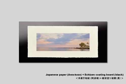 写真,インテリア,手漉き和紙,ハワイ,風景,海,トロピカル,横長,南国,アートフレーム,壁掛け,アートポスター,おしゃれ,額装