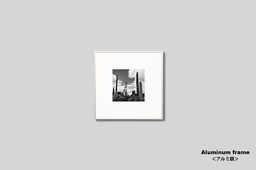 ニューヨーク,インテリア,写真,マンハッタン,ビル群,インテリアフォト,モノクロ,正方形,アート,額入り,額装,オリジナルプリント,アートフレーム,フォトフレーム,おしゃれ,モダン,プレゼント,壁掛け,壁飾り,装飾,ウォールアート,新築祝い
