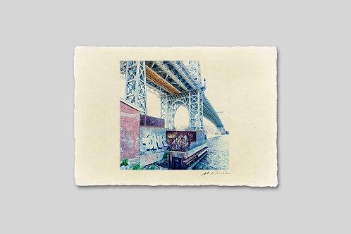 手漉き和紙,写真,インテリア,ニューヨーク,ウィリアムズバーグブリッジ,橋,おしゃれ,インテリアフォト,風景,アート,モダン,プレゼント,ギフト,ハガキサイズ,部屋飾り