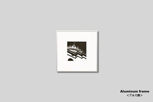 写真,額縁,インテリアフォト,フランス,学士院の屋根,風景,丸い屋根,インテリア,アート,フレーム,額入り,額装,モノクロ,壁掛け,壁飾り,正方形,フォトフレーム,おしゃれ,モダン,プレゼント,ウォールアート