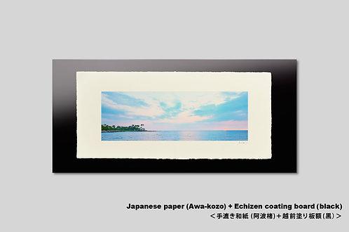 手漉き和紙,インテリアフォト,ハワイ,風景写真,海,南国,アート,壁掛け,アートポスター,おしゃれ,額装