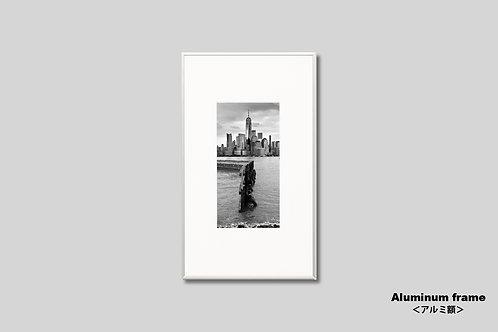ニューヨーク,ワールドトレードセンター,インテリア,写真,風景,マンハッタン,摩天楼,ビル群,インテリアフォト,アート,額入り,額装,オリジナルプリント,モノクロ,アートフレーム,フォトフレーム,おしゃれ,モダン,プレゼント,壁掛け,壁飾り,新築祝い