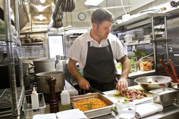 Chef Charlie Parker at Flea St. Cafe