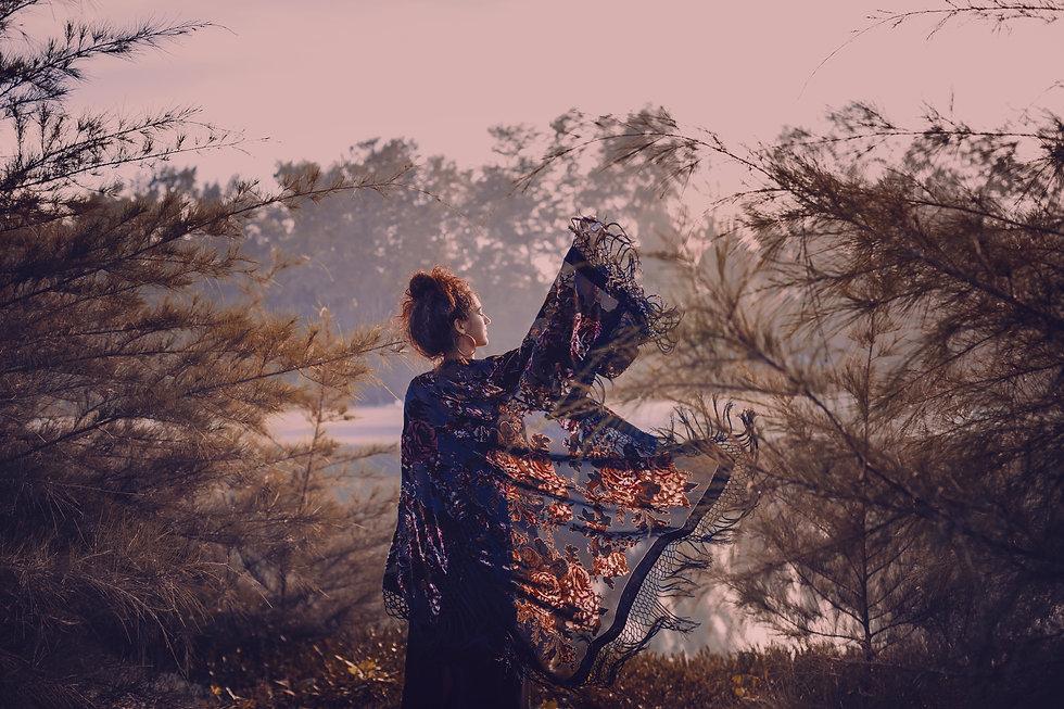 beautiful stylish woman silhouette weari
