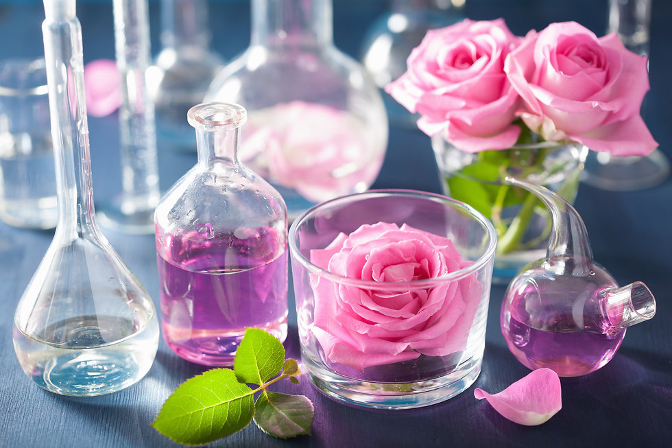 alchemy and aromatherapy set with rose f