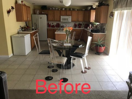 Tile removal before picture