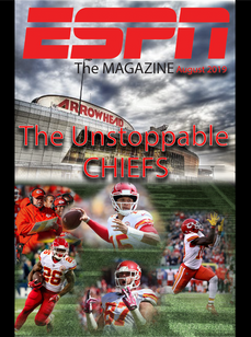 Photoshop layered collage magazine cover