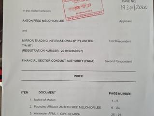 Urgent Liquidation of Mirror Trading Investments (Pty) Ltd aka MTI
