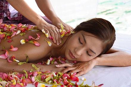 Massagem com flores