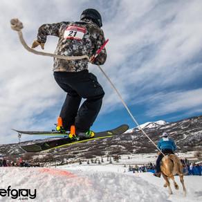 Utah Skijoring in Solder Hollow Midway, Utah