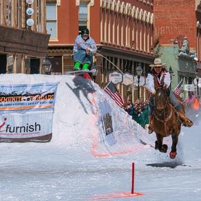 Leadville Skijoring & Crystal Carnival in Leadville, Colorado