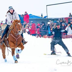 Big Hole Valley Skijoring in Wisdom, Montana