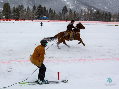 The Pole and Spur Skijoring in Blairmore, Canada