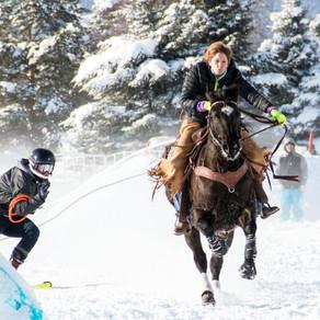 Skijoring at Rebecca Farm in Kalispell, Montana