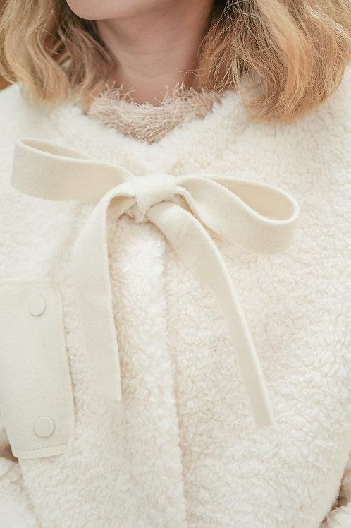 [售罄] 好質感柔軟保暖毛毛外套(白色)