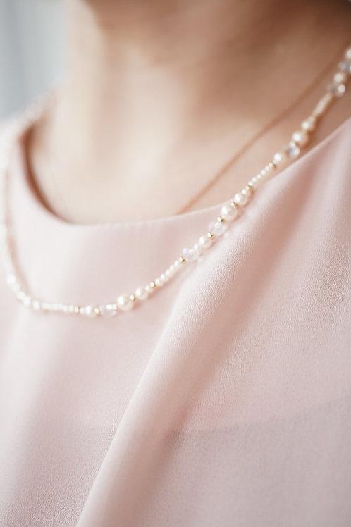 [現貨] 小珍珠閃石小金珠精緻小頸鏈(也可打圈作手鏈)