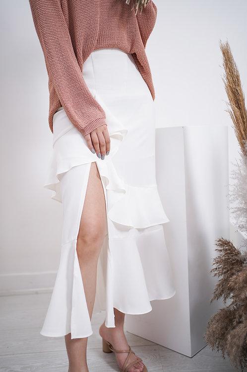 [預訂] 開叉層層Ruffles修身半裙