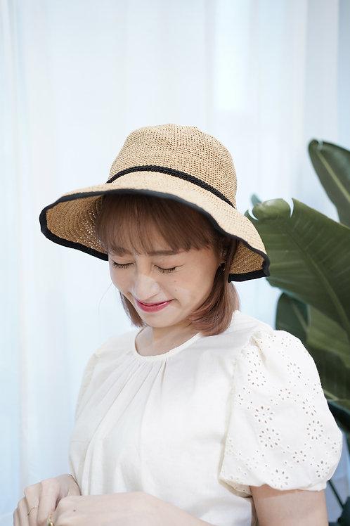 [現貨賣光不補] 蝴蝶結隨意調整形狀遮陽防日曬好幫手三色帽子(啡色)