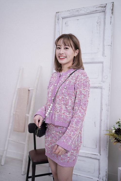 [售罄] 小香風粉紫粉橙紅夢幻Tweed套裝