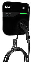 The Blink HQ Home Charger is a Level 2 240-volt home charger with a network capability.  The HQ Home Charger is a fully programmable unit that can be set for delayed charge times during off-peak hours.  The Charger itself is wall mounted and comes with an 18-foot charge cable standard.