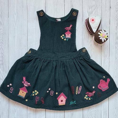 Tu Girls Pinafore Dress 2-3 years