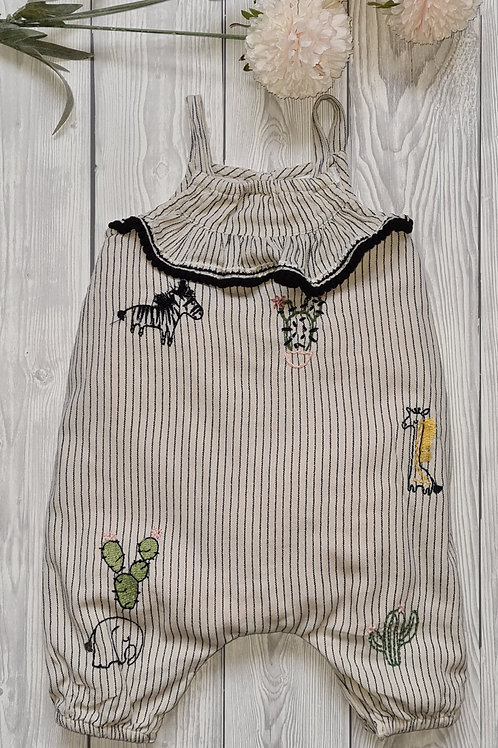 Next Baby Girl 0-3 Months Dungarees