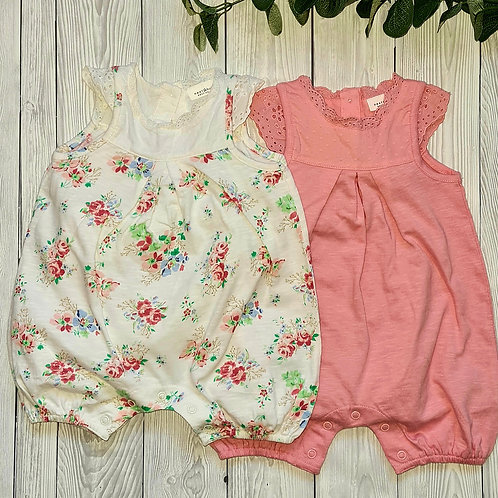 Next Baby Girls 2 pk Rompers 0-3 months