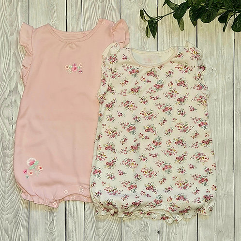 Next Baby Girl 2pk Rompers 6-9 months