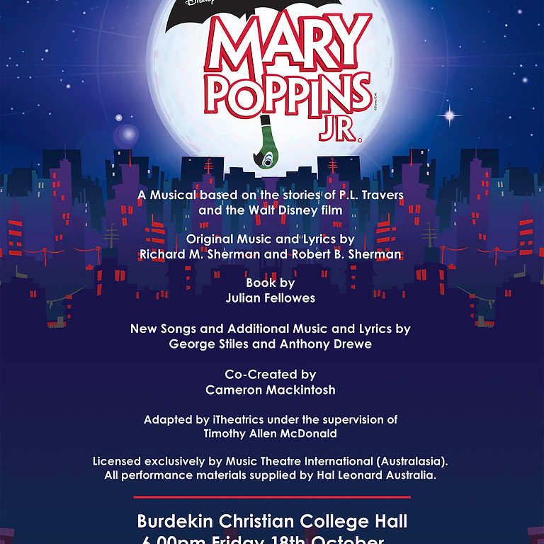 BCC's Mary Poppins the Musical