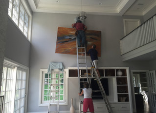Hanging Instructions for Large Paintings