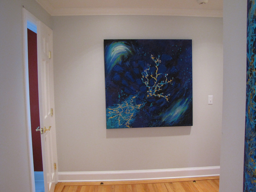 Fog Pittsburg Paint color to display artwork