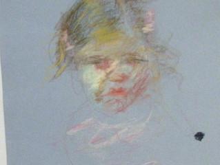 Portrait Painting Process Pastel Color Sketch Demonstration