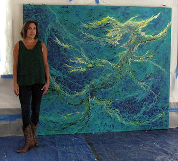 Large Abstract Installation Painting