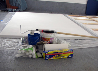 Stretching and Priming A Large Canvas