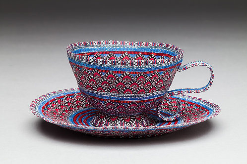 Red and Blue Paper Cup