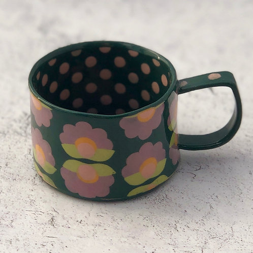 Flowers and Dots  4 oz. Espresso Cup