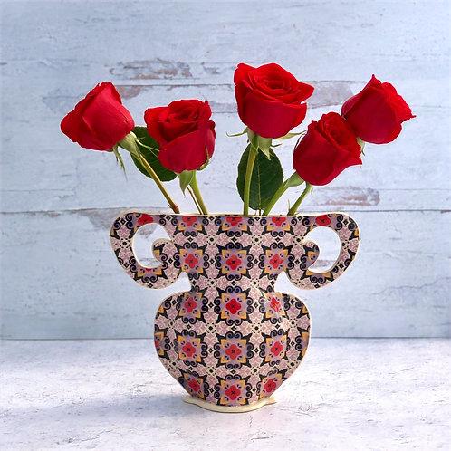 Violet and Black Curly  Vase