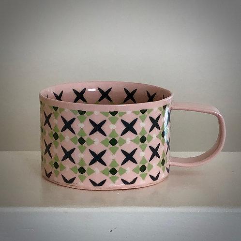 8 oz. Pink Coffee/tea Cup